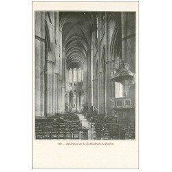 carte postale ancienne 12 RODEZ. La Cathédrale Notre-Dame. Intérieur