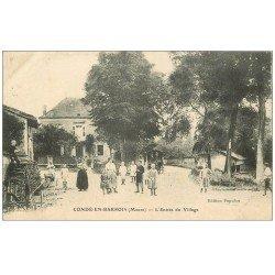 carte postale ancienne 55 CONDE-EN-BARROIS. Entrée du Village 1915