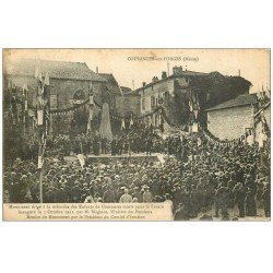 carte postale ancienne 55 COUSANCES-AUX-FORGES. Monument inauguré par Maginot