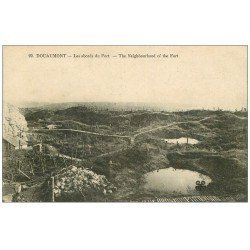 carte postale ancienne 55 DOUAUMONT. Abords du Fort