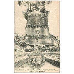 carte postale ancienne 55 DOUAUMONT. Bourdon de la Victoire. Cloche Louise-Anne-Charlotte