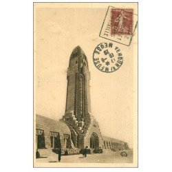 carte postale ancienne 55 DOUAUMONT. Phare Ossuaire 1929
