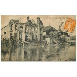 carte postale ancienne 55 DUN-SUR-MEUSE. La Ville 1922