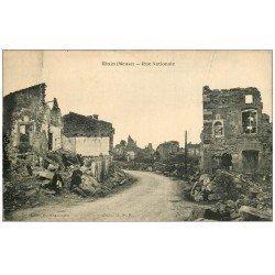 carte postale ancienne 55 ETAIN. Ecoliers Rue Nationale. Pli transversal...