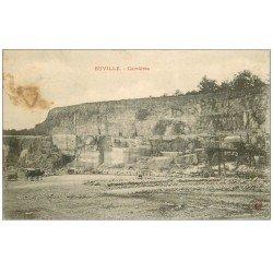 carte postale ancienne 55 EUVILLE. Les Carrières des Pierres Lentilles de Calcaire 1905