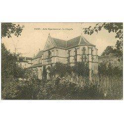carte postale ancienne 55 FAIN. Asile Départemental. La Chapelle 1915