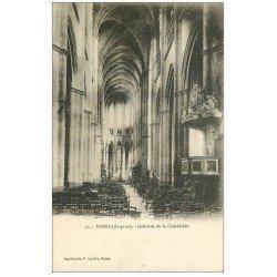 carte postale ancienne 12 RODEZ. La Cathédrale Notre-Dame. Nef et Chaire