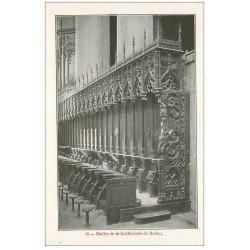 carte postale ancienne 12 RODEZ. La Cathédrale Notre-Dame. Stalles