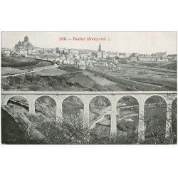 carte postale ancienne 12 RODEZ. Le Viaduc de Gasquerie