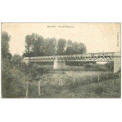 carte postale ancienne 55 REVIGNY. Pont du Tramway