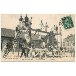 carte postale ancienne 55 SAINT-MIHIEL. Au Gymnase 150° Régiment 1909 La Boxe Française