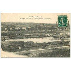 carte postale ancienne 55 SAINT-MIHIEL. Baraquements des Chasseurs à Pied 1910