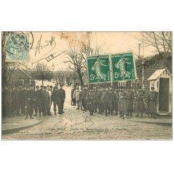 carte postale ancienne 55 SAINT-MIHIEL. Baraquements du 25° Bataillon 1905