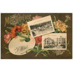 carte postale ancienne 55 SAINT-MIHIEL. Carte Fantaisie double vues 1921