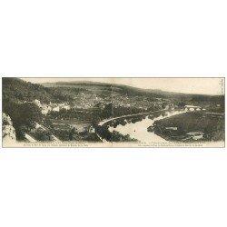 carte postale ancienne 55 SAINT-MIHIEL. Carte panoramique double. Quartier de la porte à Verdun
