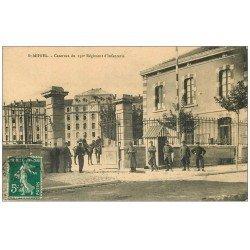 carte postale ancienne 55 SAINT-MIHIEL. Caserne du 150° Régiment d'Infanterie 1910