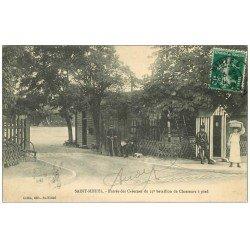 carte postale ancienne 55 SAINT-MIHIEL. Caserne du 25° Bataillon Chasseurs à pied 1910