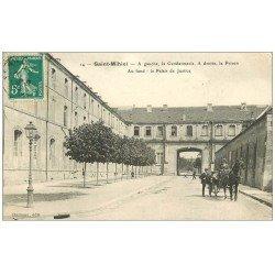 carte postale ancienne 55 SAINT-MIHIEL. Gendarmerie, Prison et Palais de Justice 1912