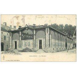 carte postale ancienne 55 SAINT-MIHIEL. Le Marché 1907