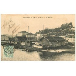 carte postale ancienne 55 SAINT-MIHIEL. Le Moulin 1906