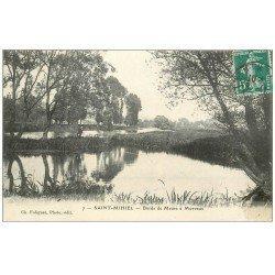 carte postale ancienne 55 SAINT-MIHIEL. Meuse à Morvaux personnage