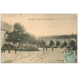 carte postale ancienne 55 SAINT-MIHIEL. Quartier Coison. Chasseurs à Cheval 1905