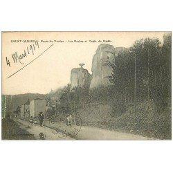 carte postale ancienne 55 SAINT-MIHIEL. Route de Verdun Roches et Table du Diable 1919