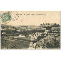 carte postale ancienne 55 SAINT-MIHIEL. Table du Diable 1907 et Caserne