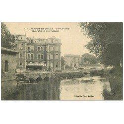 carte postale ancienne 55 VERDUN. Canal Puty, Mess Pont et Tour Chaussée. Guerre 1914-18