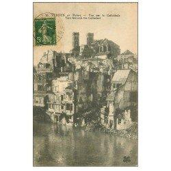 carte postale ancienne 55 VERDUN. Cathédrale 1920. Guerre 1914-18