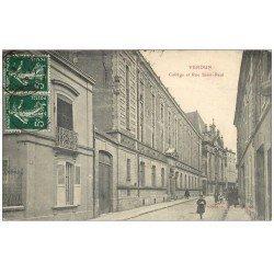 carte postale ancienne 55 VERDUN. Collège Rue Saint-Paul 1908