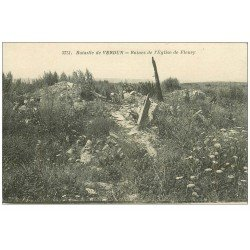 carte postale ancienne 55 VERDUN. Eglise de Fleury. Guerre 1914-18