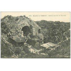 carte postale ancienne 55 VERDUN. Entrée Fort Souville. Guerre 1914-18
