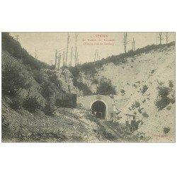 carte postale ancienne 55 VERDUN. Entrée Tunnel de Tavannes. Guerre 1914-18