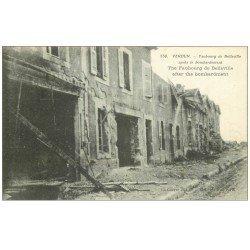 carte postale ancienne 55 VERDUN. Faubourg de Belleville bombardée. Guerre 1914-18