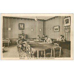 carte postale ancienne 55 VERDUN. Guerre 14-18. Salle lecture