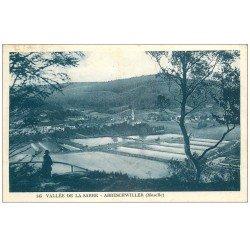 carte postale ancienne 57 ABRESCHWILLER. Vallée de la Sarre 1927