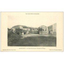 carte postale ancienne 57 AJONCOURT. Pont Frontière à l'Entrée du Village