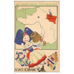 carte postale ancienne 57 ALSACE LORRAINE. Carte notice produit par Lion Noir