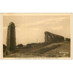 carte postale ancienne 57 ARS-SUR-MOSELLE. Ruines Aqueduc Romain