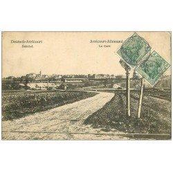 carte postale ancienne 57 AVRICOURT ALLEMAND. La Gare 1913