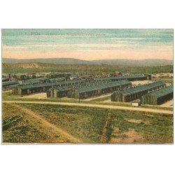 carte postale ancienne 57 BITCHE. Camp. Baraquements en tôle ondulée 1946
