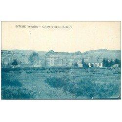 carte postale ancienne 57 BITCHE. Casernes Aznié et Jouart 1926