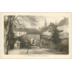 carte postale ancienne 57 BITCHE. Porte de Strasbourg