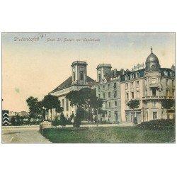 carte postale ancienne 57 DIEDENHOFEN. Hôtel Saint-Hubert mit Esplanade 1909