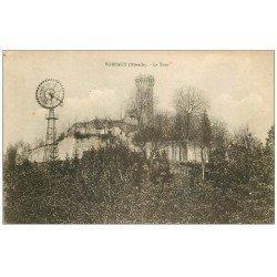 carte postale ancienne 57 FORBACH. La Tour et l'Eolienne 1919