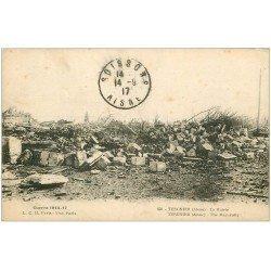 carte postale ancienne 02 CITE DE TERGNIER. La Mairie 1917