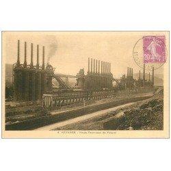 carte postale ancienne 57 HAYANGE HAYINGEN. Hauts Fourneaux de patural 1932