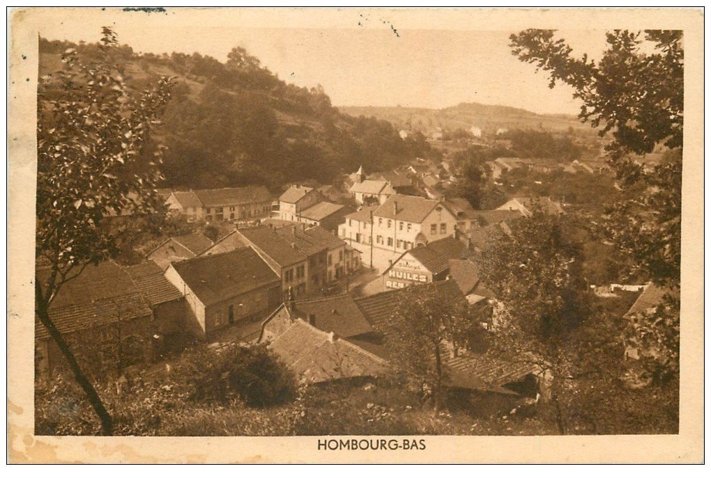 carte postale ancienne 57 HOMBOURG-BAS. Timbre absent