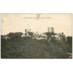 carte postale ancienne 57 LUTZELBOURG. Ruines du Château 1930